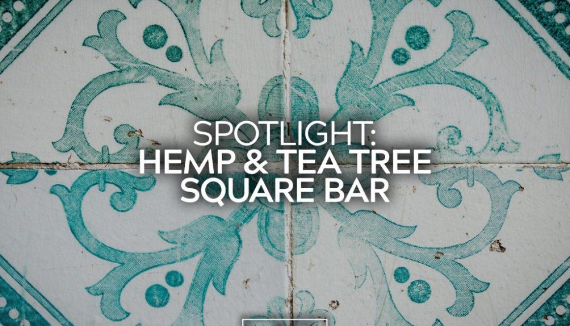 Hemp Tea Tree Square Bar