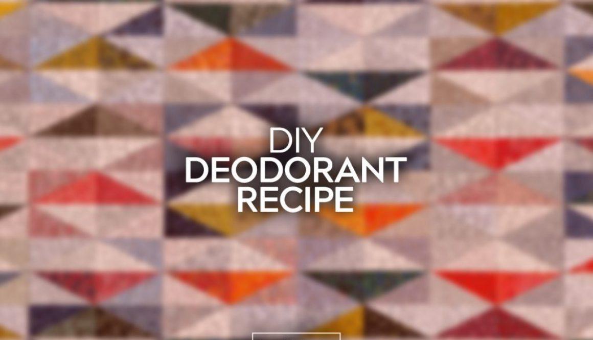 DIY Deodorant Recipe